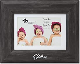 Lawrence Frames Sisters Picture Frame, 4x6, Black