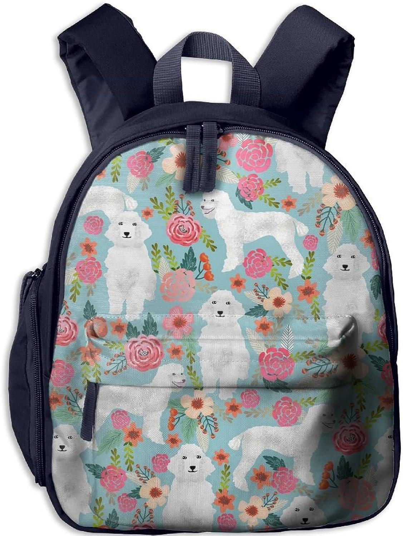 Lightweight Kids School Poodle Floral(148) Backpack