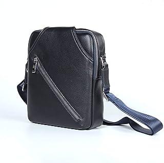 Crossbody Bag Genuine Leather Men's Bag Shoulder Bags Men's Leisure Cowhide Small Square Package 4L Men's Work Bag Satchel Outdoor Leather Bag