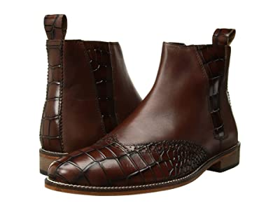 Stacy Adams Fazio Leather Sole Wing Tip Boot (Scotch/Cognac) Men