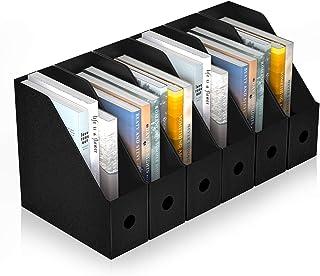 ABClife Porte-revues de fichier, 6PCS organisateur de fichiers en plastique étanche , étagère de rangement de trieuse Exce...