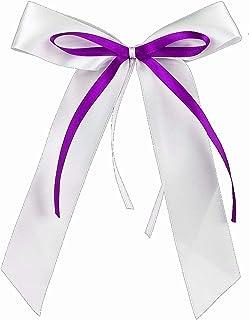 d/écoration de Voiture SCH/ÖNKAUF Lot de 60 n/œuds d/'antenne de qualit/é Faits /à la Main avec n/œuds Violets en Satin pour Voiture d/écoration de Mariage