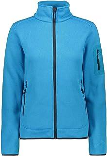 CMP Women's Fleece Melange Jacket KnitTech, Danubio-Antracite, 12