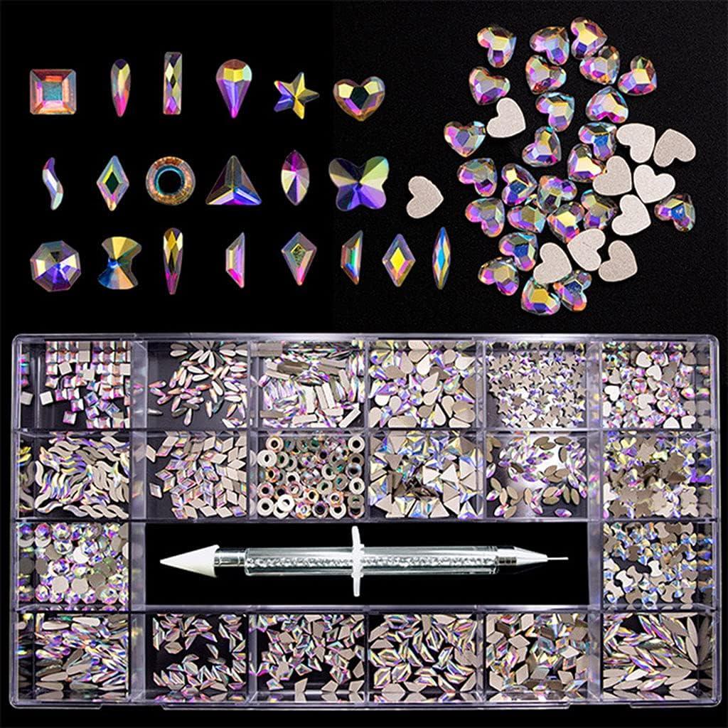 Y-YUNLONG Nail Rhinestones Crystals Gems Time sale Jewels Finally popular brand Fla Shapes Multi