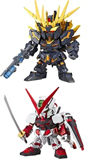 2 Bandai SD EX-Standard Gundam Assembly Models – Astray Red Frame & Unicorn Banshee Norn (Destroy Mode) (Japan Import)