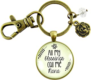 Nana Keychain All My Blessings Call Me Nana Gift Quote Womens Grandma  Jewelry Blessed Life Card ad616f0650