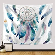 Ameyahud Dreamcatcher Tapestry Wall Hanging Dream Catcher Wall Tapestry Hippie Tapestry Colorful Tapestry Psychedelic Bohemian Feather Wall Tapestry for Bedroom Decor