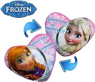 WD16526 Cojín doble en forma de corazón con motivo de ELSA Y ANA 45x40cm-Frozen