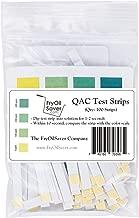 FMP 142-1363, Restaurant Quaternary Ammonium Sanitizer Test Strips (QAC, Multi Quat), 0-400 ppm, Quat Strips for Food Service, Restaurants, Quaternary Ammonia Compound Sanitizer Strips, Pack of 100