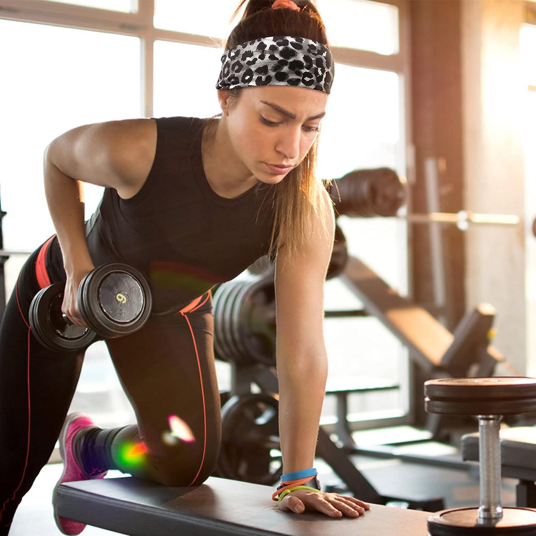 DRESHOW Yoga Sports Headbands for Women Elastic Non-Slip Headbands Workout Running Hair Bands 6 Pack