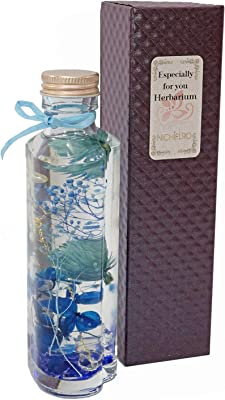 【NICHIFLRO】ニチフロ ハーバリム ハートボトル 専用BOX付き プレゼント 母の日 父の日 敬老の日 誕生日 枯れない花 ブリリアント【 パールブルー 】