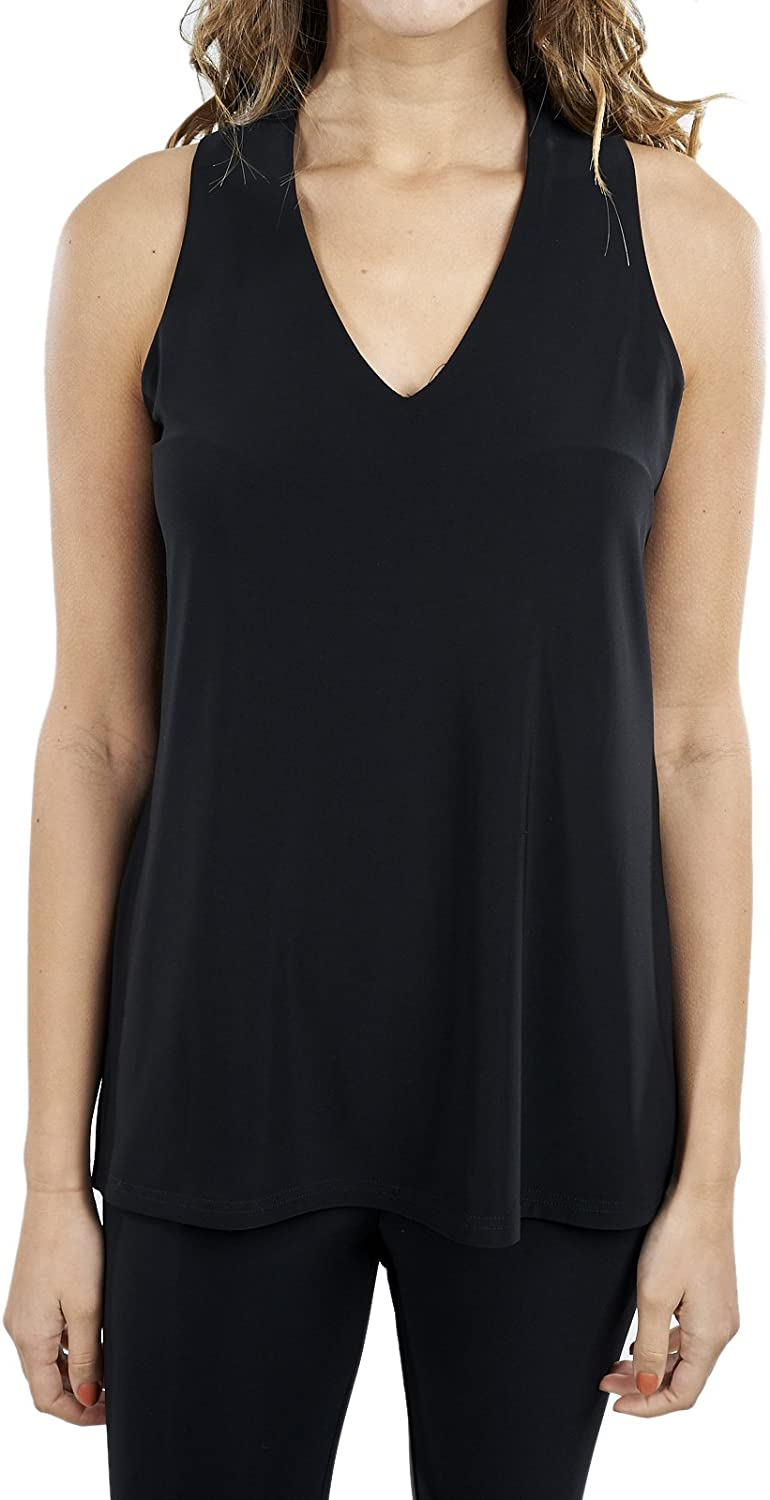 Joseph Ribkoff Black Sleeveless Slit Side VNeck Tunic Top Style 171126