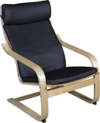 Amazon.com: Ikea Poang - Sillón con cojín, funda y marco ...