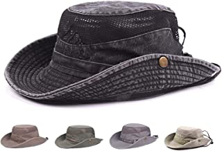 Sun Hat, Fishing Hat UPF 50 Wide Brim Bucket Hat Safari Boonie Hat