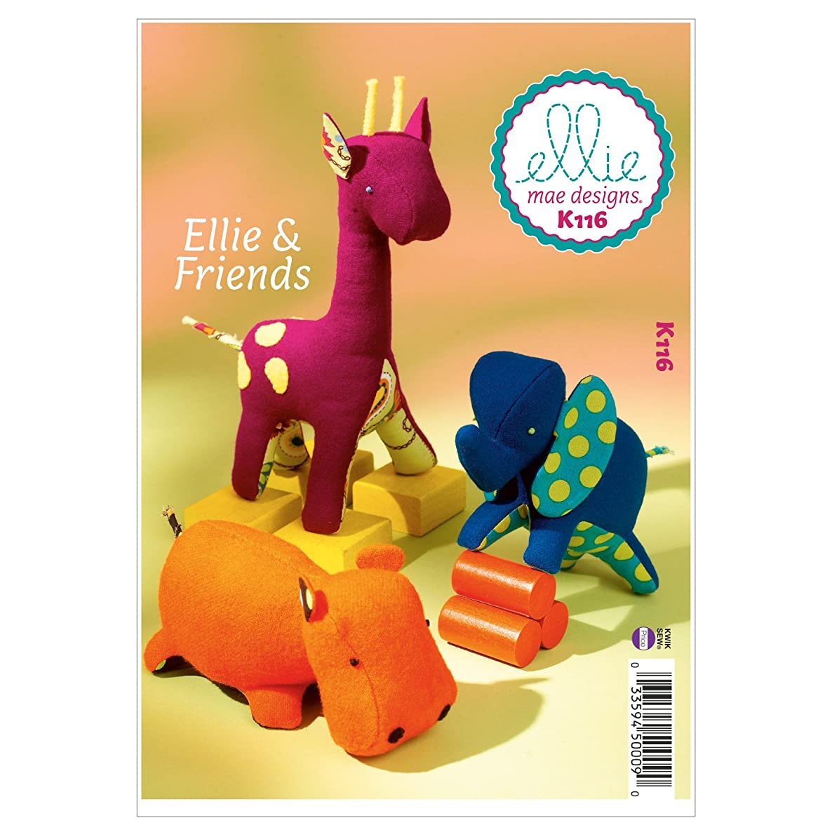 Kwik Sew K0116 Ellie and Friends Sewing Pattern, One Size Only