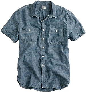[ジェイクルー] J.CREW 正規品 メンズ 半袖シャンブレーシャツ SHORT-SLEEVE CHAMBRAY WORKSHIRT 並行輸入品 (コード:4032033806)