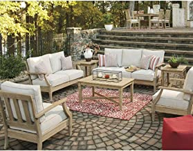 Dakota Outdoor Timber 3+2+1+1 Lounge Set with Coffee Table & Side Table - Outdoor Lounges, Outdoor Furniture - Bay Gallery...