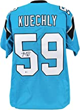 Panthers Luke Kuechly Autographed Signed Blue Jersey Autographed Signed Bas Witness - Certified Signature