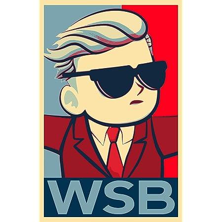 Amazon.com: WallStreetBets Illustration - WSB Stock Market Reddit Pop Art  Home Decor Poster Print (11x17 inches): Posters & Prints