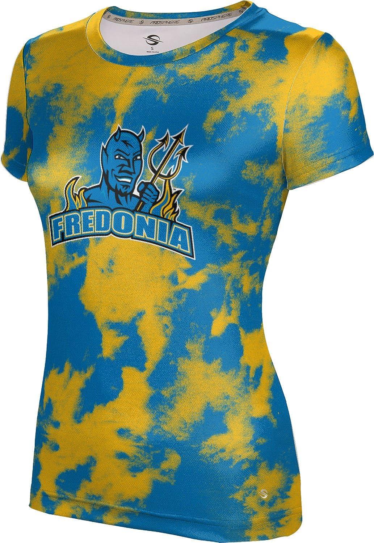 State University of New York at Fredonia College Girls' Performance T-Shirt (Grunge)