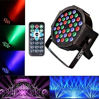 KOOT Par Disco Licht RGB 36LEDS Bühne Party DJ Licht Scheinwerfer Tonaktivierung DMX und Fernbedienung Blitzleuchten Beste für Partys und Platzc Dekorationen