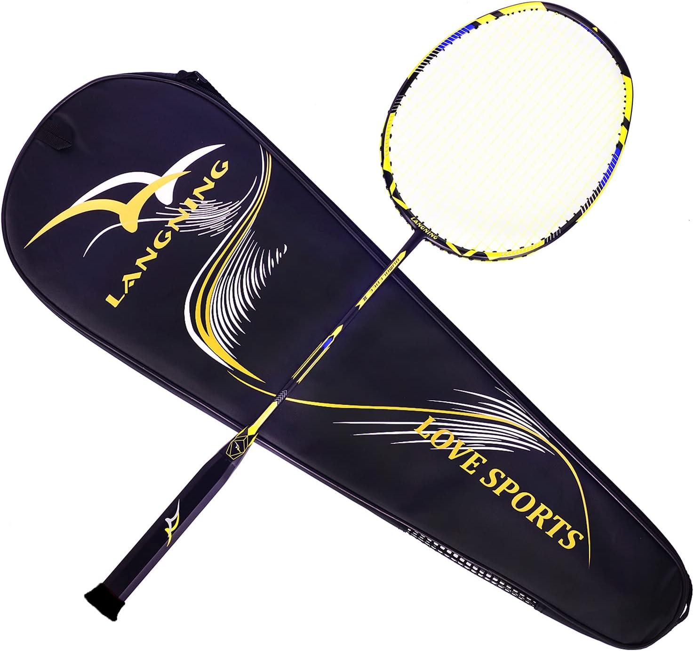 Badminton Racquet In a Detroit Mall popularity Light Racket Set Fiber 68g Carbon - 7u