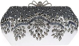 709d8e9204 KAXIDY Classique Sac Pochette Sac Soirée Paillettes de Fleurs Sac  Bandoulière Femme Pochette Mariage