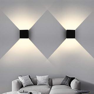 OOWOLF 2PCS Lámpara de Pared, 7W G9 Apliques De Pared LED Blanco Cálido 3200K 800lm, G9 Bombillas LED Reemplazables, IP65 Impermeable Luz de Ambiente Exterior Y De Interior