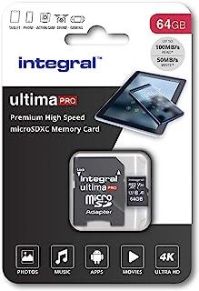 Integral Ultimapro   Memory Card 64 GB microSDHC/100 MB/s/Class 10 UHS I U3/ V30 + Adapter