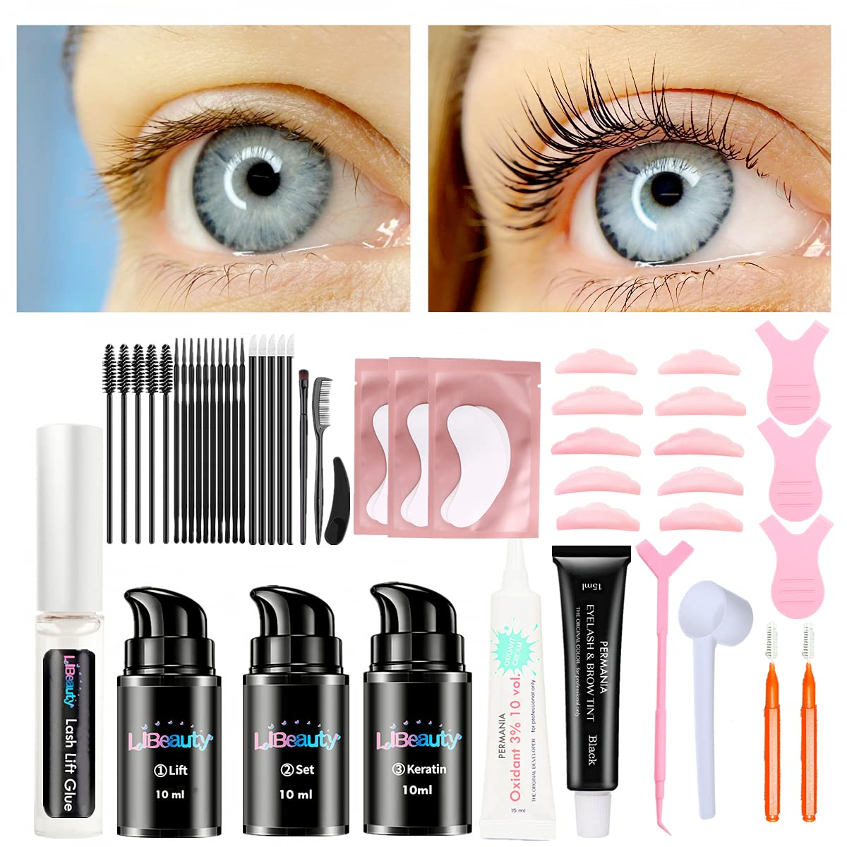 Libeauty Fashionable Lash Lift And High material Tint Home With Kit At Tint-Bla