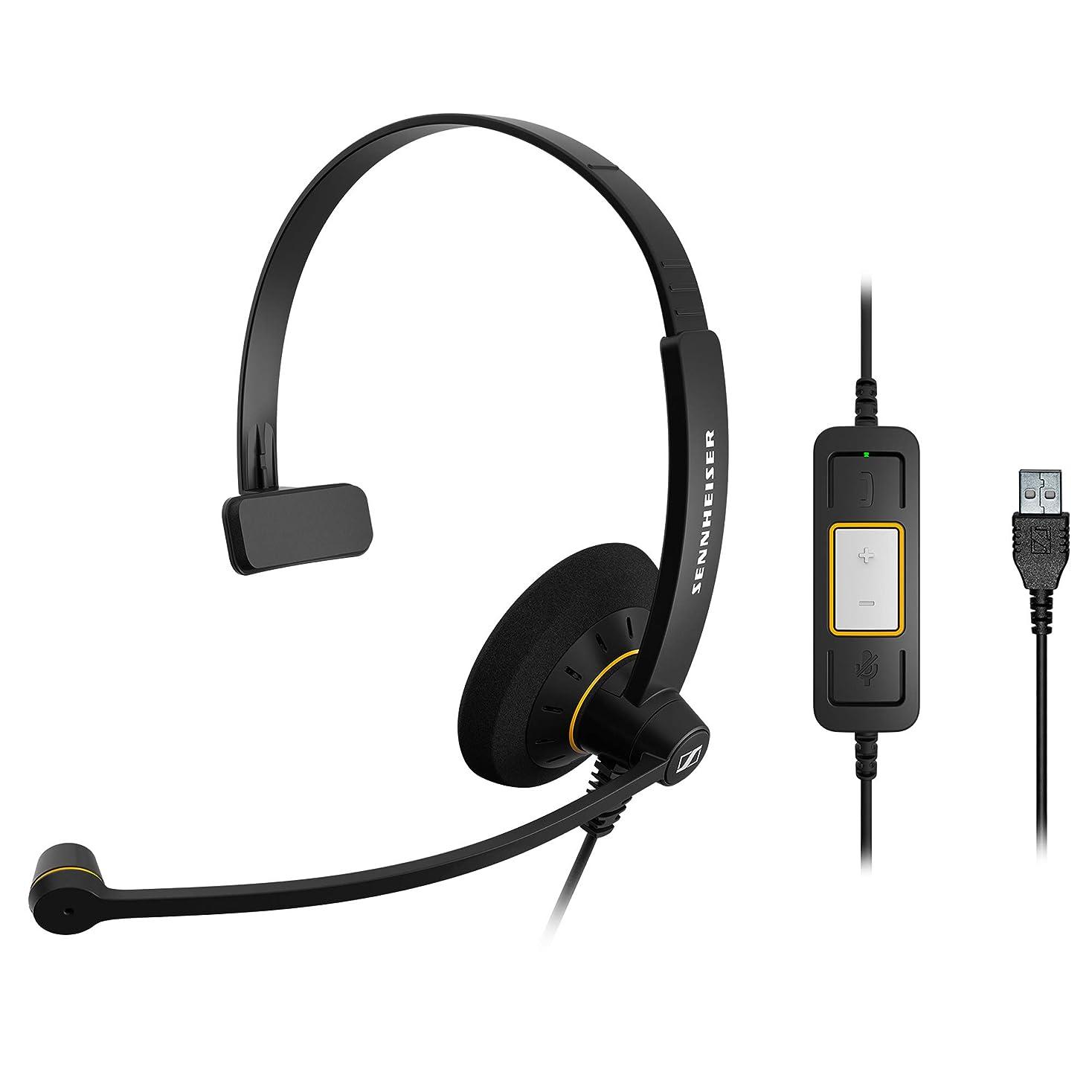 永久お世話になった前兆ゼンハイザー SC 30 USB ML エントリークラス 片耳USBヘッドセット、コールコントロール機能付 504546