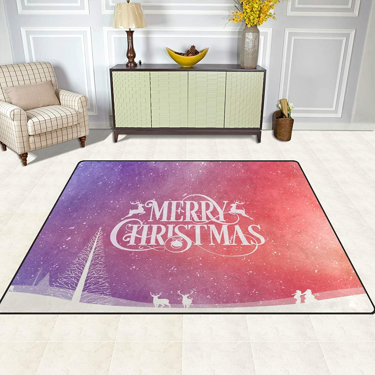 FAJRO Merry Christmas Rugs for entryway Doormat Area Rug Multipattern Door Mat shoes Scraper Home Dec Anti-Slip Indoor Outdoor