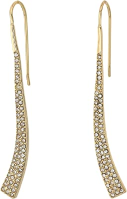 LAUREN Ralph Lauren - Minimal Metal and Pave Curved Linear Earrings