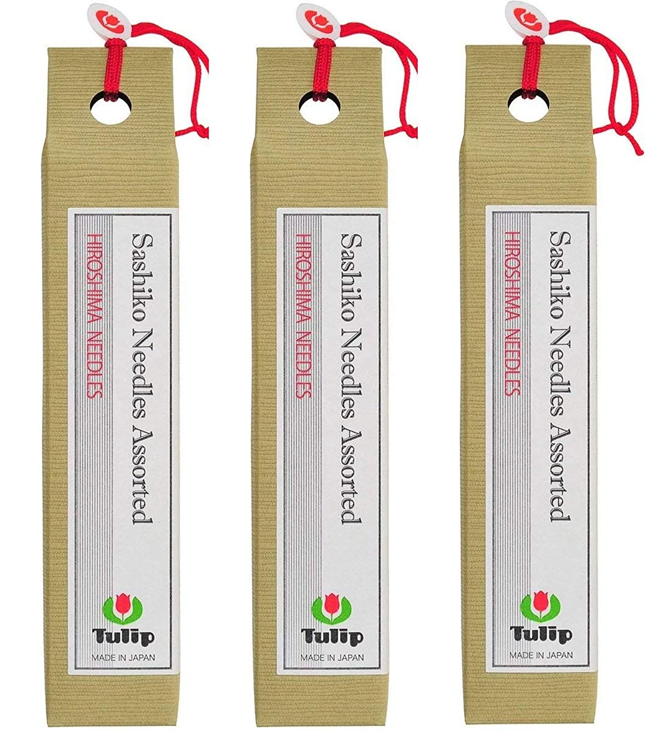 Tulip Long Sashiko Needles Assorted Tube of 6 (3-(Pack))