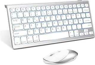 Jelly Comb Beleuchtete Bluetooth Tastatur Maus Set für Neues iPad Pro 2020/iPad 2019 10,2, iPad 9.7, iPad 8/7/6 Gen, iPad ...