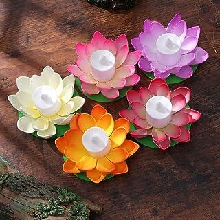 LEDMOMO 5 unids Lámpara de Loto Flotante Deseando Lily