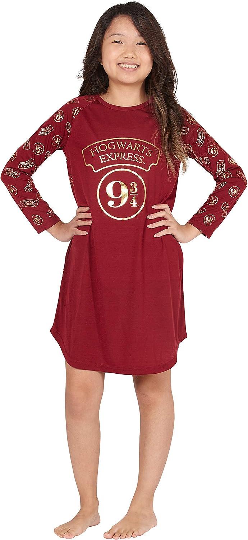 HARRY POTTER 9 3/4 Hogwarts Express Raglan Nightgown, Burgundy, 10/12