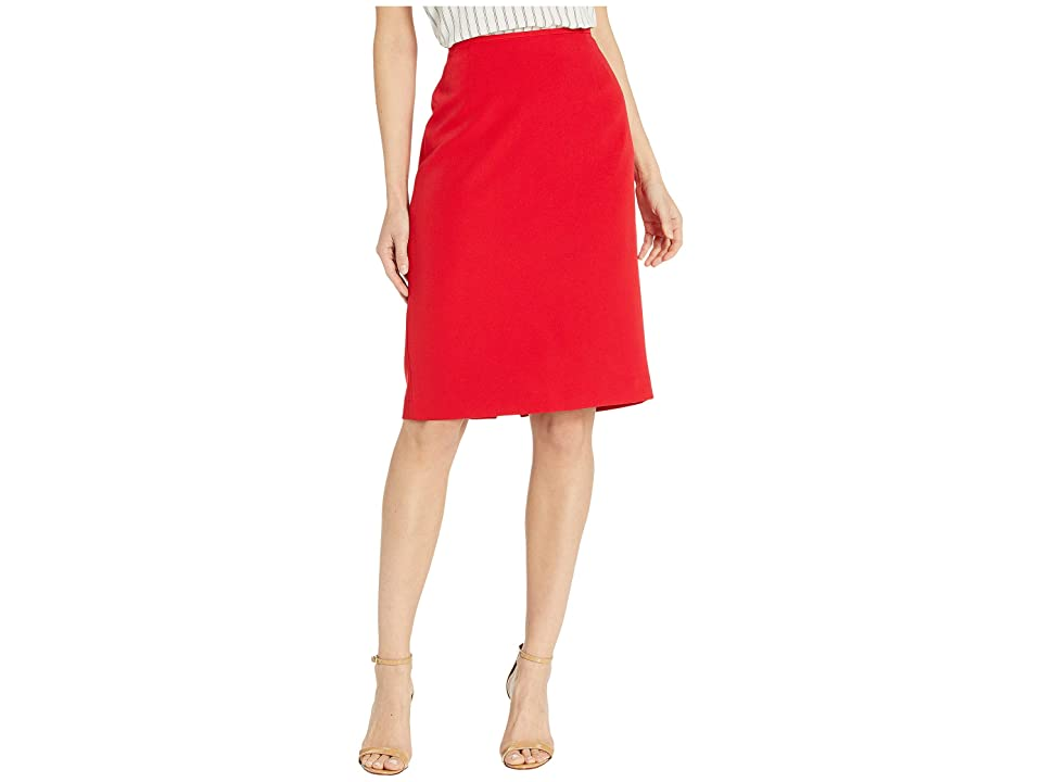 Tahari by ASL Pencil Skirt (Scarlet Red) Women