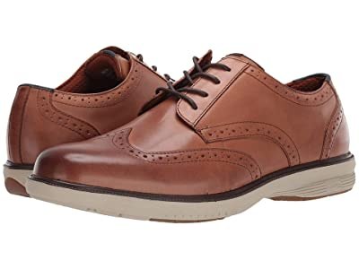 Nunn Bush Maclin Street Wing Tip Oxford with KORE Slip Resistant Walking Comfort Technology (Camel Multi) Men