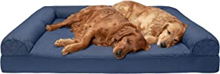 Furhaven Pet Dog Bed   Orthopedic Quilted Traditional Sofa-Style Living Room Couch Pet Bed w/Removable Cover for Dogs & Ca...
