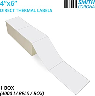Best 4x6 direct thermal labels fanfold Reviews