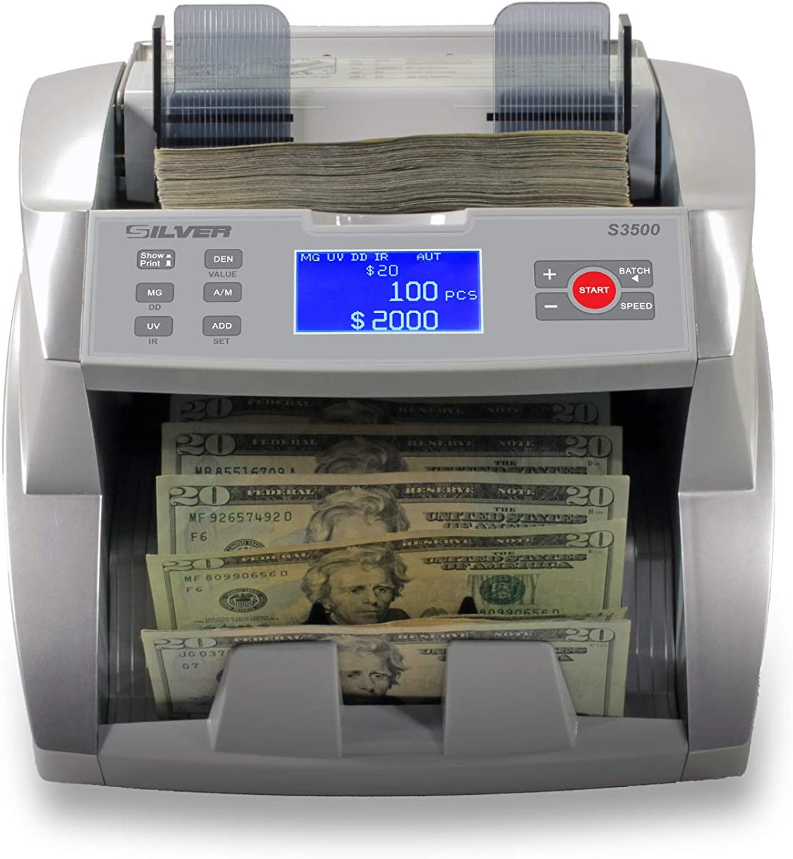 SILVER By Las Vegas Mall AccuBANKER Same day shipping S3500 Flex Bill High Speed - Counter Money