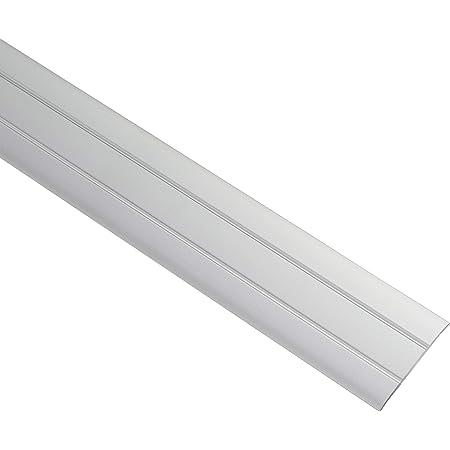 Gedotec profilé de Transition en Aluminium Plat en Aluminium Autocollant | Barre inférieure d'une Largeur de 37 mm | Profil de rémunération | Bande de recouvrement 100 cm | 1 pièce