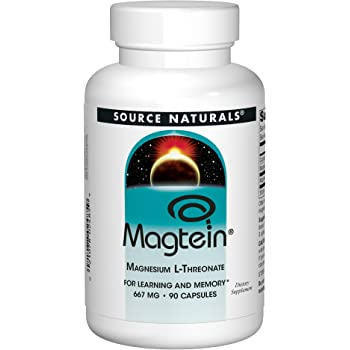 Source Naturals Magtein Magnesium L-Threonate, For Learning and Memory, 667 mg (90 capsules)