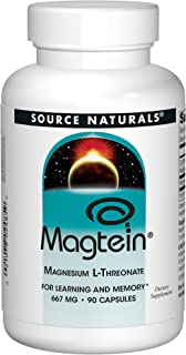 Source Naturals Magtein Magnesium L-Threonate 667mg Supports Focus, Mood, Healthy Memory, Cognitive Function, Sleep - 90 C...