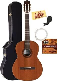 Cordoba C5 Classical Guitar Bundle with Hard Case, Tuner, Austin Bazaar Instructional DVD, and Polishing Cloth
