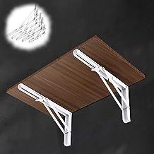 Opvouwbare plankbeugels voor zwaar gebruik voor neerklapbare banktafel, roestvrijstalen inklapbare L-beugel muurbevestigin...