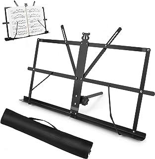 Sheet Music Stand, Table Top Desktop Book Stand Folding Port