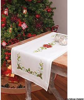 Vervaco Tischläufer Sommerfreude Stickpackung/Läufer im vorgedruckten/vorgezeichneten Kreuzstich, Baumwolle, Mehrfarbig, 40 x 100 x 0.3 cm