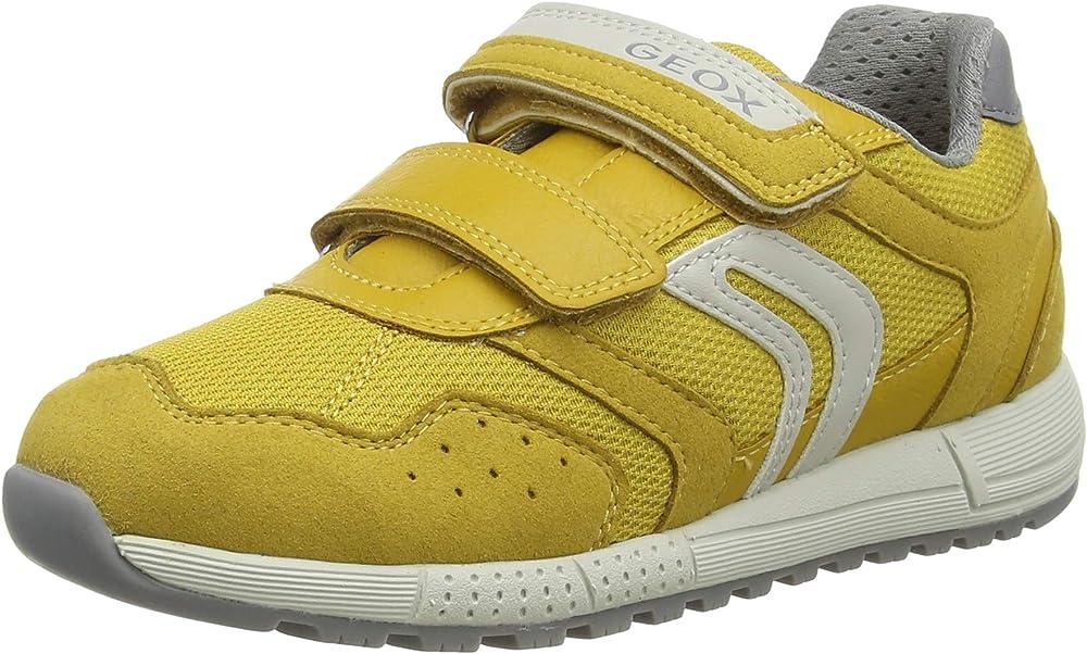 Geox j alben boy c, scarpe da ginnastica basse bambino - ragazzo,in pelle sintetica e tessuto,sneakers J949EC014AF